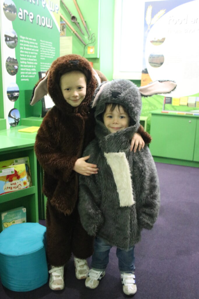 kids dressed up in bunny rabbit outfits