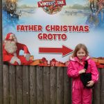 santas grotto sign at chessington world of adventures