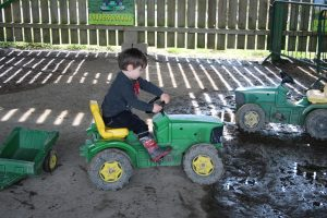pedal tractor at farmer gows