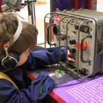 operating the radio in the soldiers of oxfordshire museum