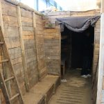 the replica war trench at the Soldiers Of Oxfordshire Museum
