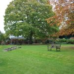 garden area at the soldiers of oxfordshire museum