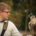 hawk and keeper