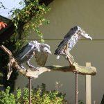 metal vulture sculptures