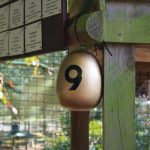 golden egg with number 9 on it