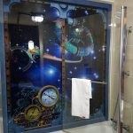 space themed shower/bath