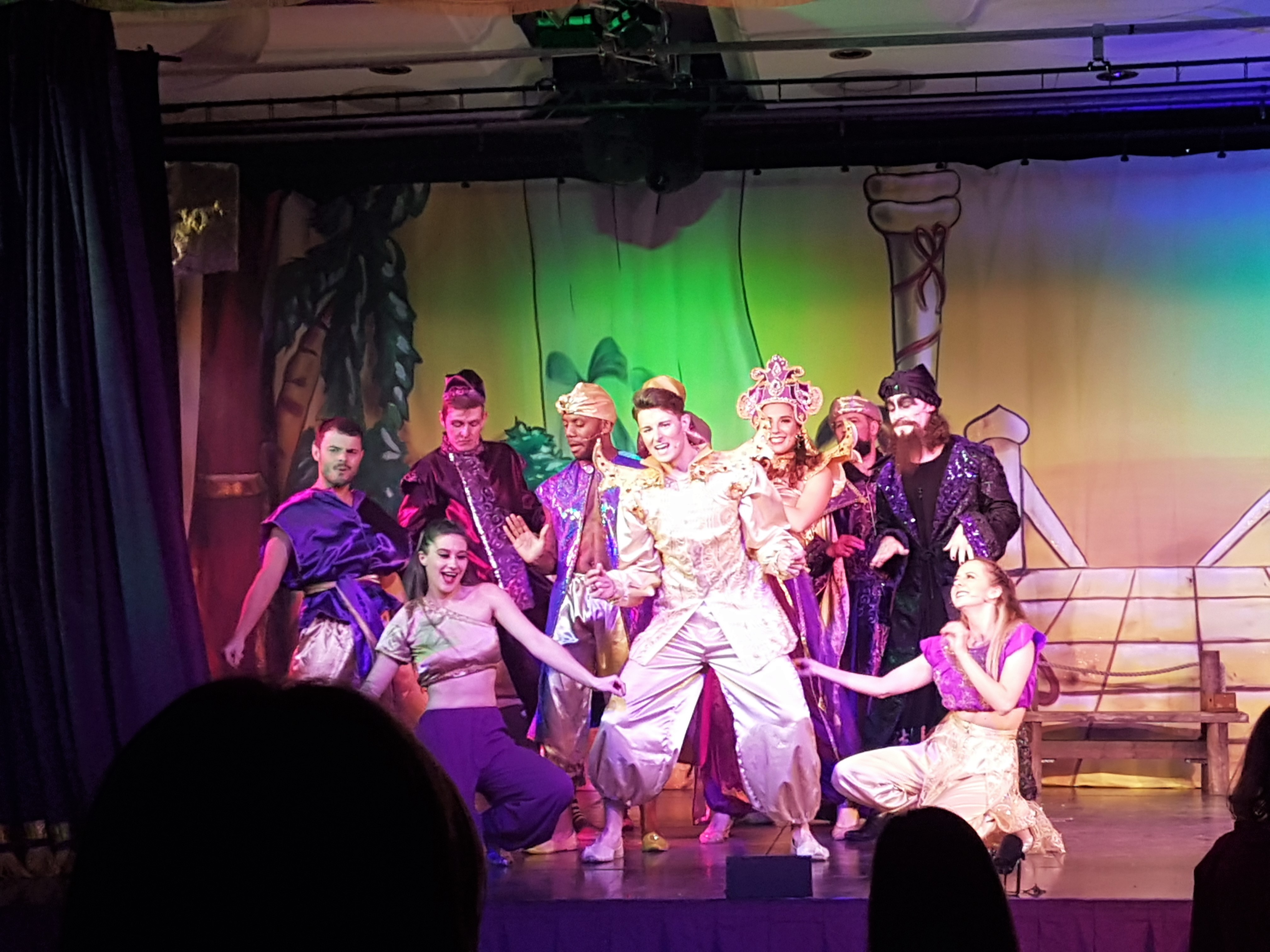 cast of Aladdin at Alton Towers
