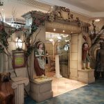 The entrance to the Secret Garden restaurant in the Alton Towers Hotel