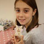 Lilian holding her reindeer