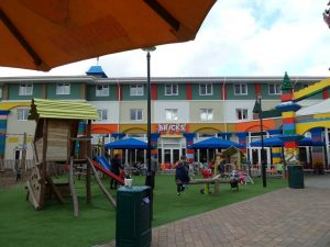 outdoor adventure play area at the legoland hotel