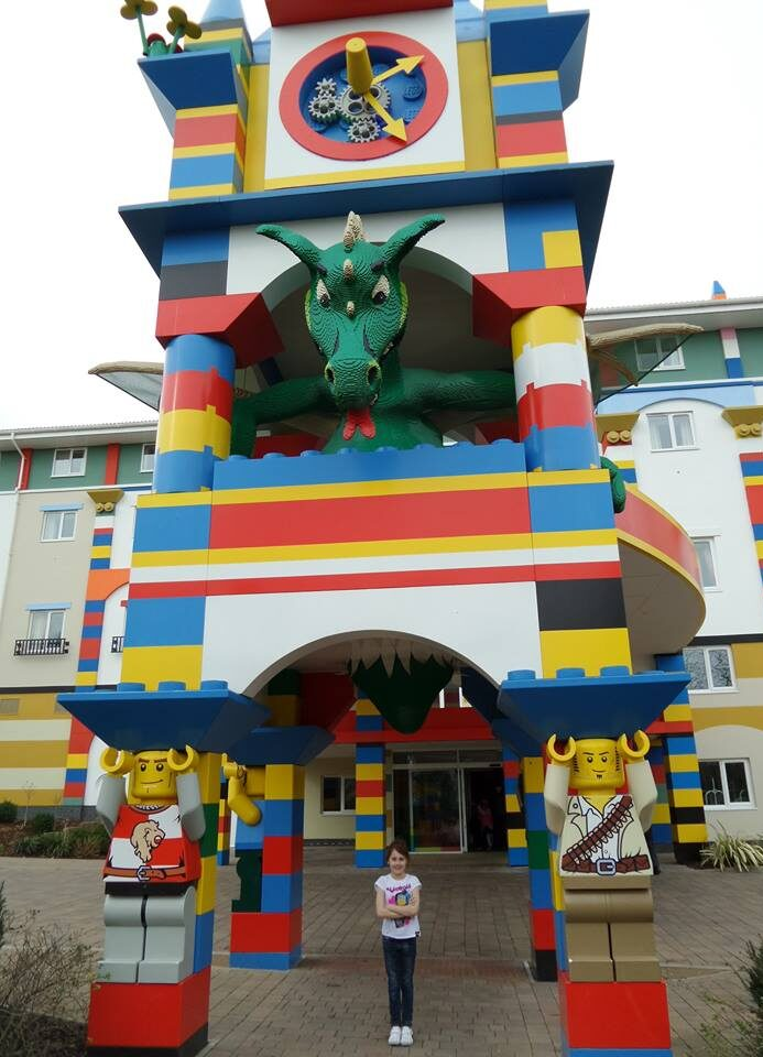 smoke breathing dragon entrance at Legoland Hotel Windsor
