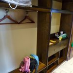 storage and hanging rail in legoland hotel room