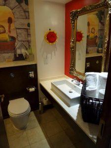 toilet and wash basin area of kingdom room in legoland hotel