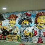 legoland hotel mosaic wall