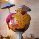 giant ice creammodel in the bricks restaurant