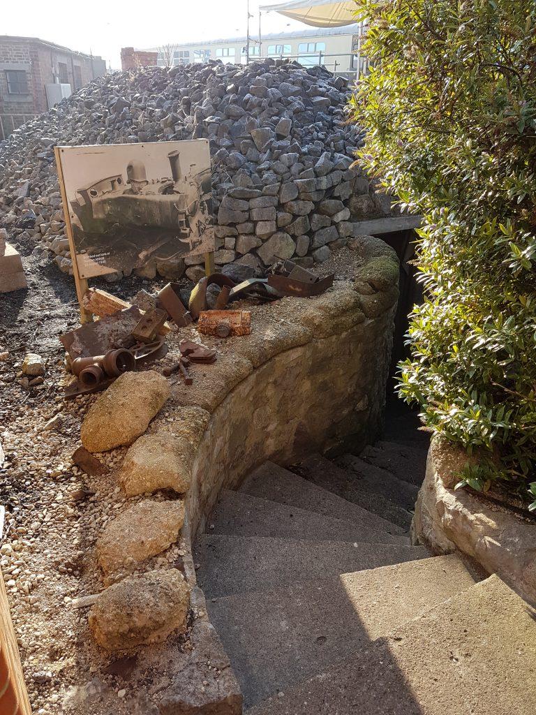 steps down to air raid shelter