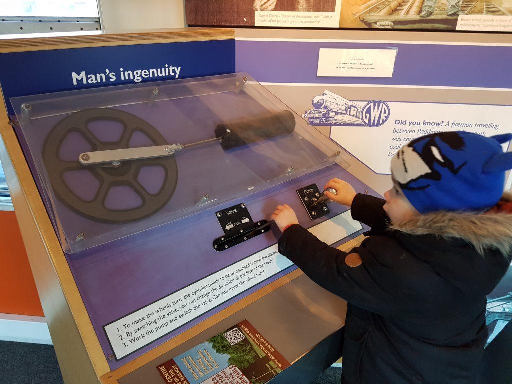 train wheel pump display