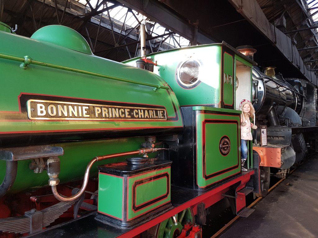 green steam train