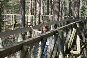 lily standing on tree top trail at moors valley