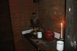 kitchen area in the bunker