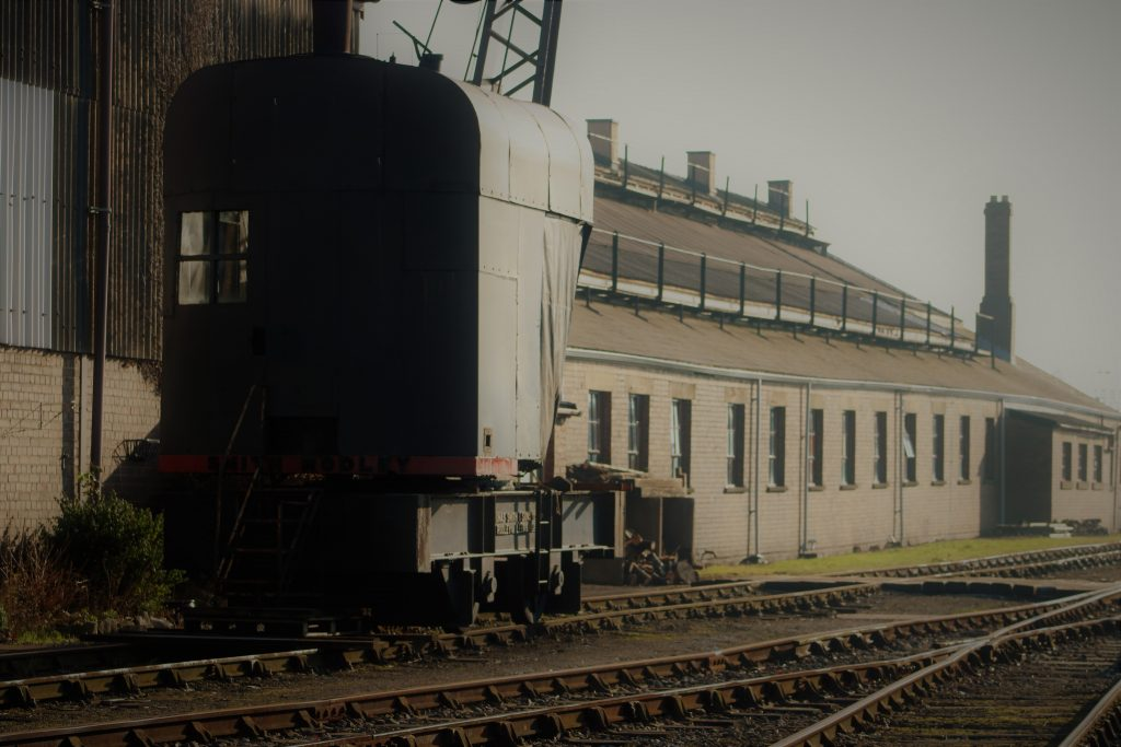 train and engine shed