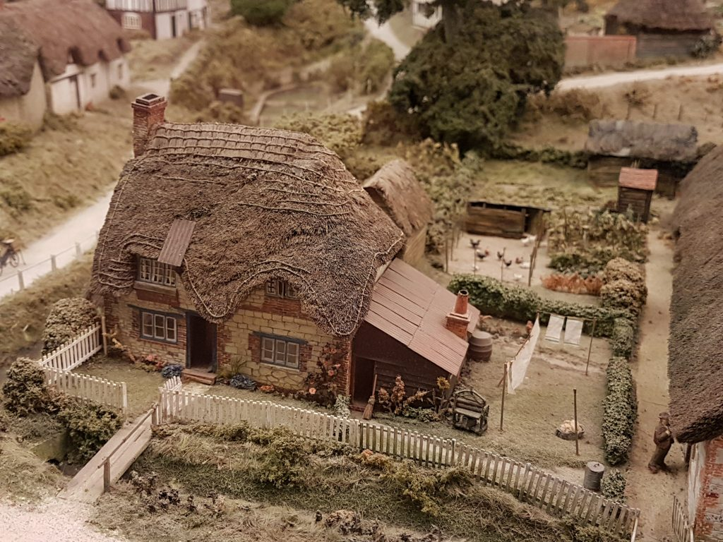 Model cottage at Pendon Museum