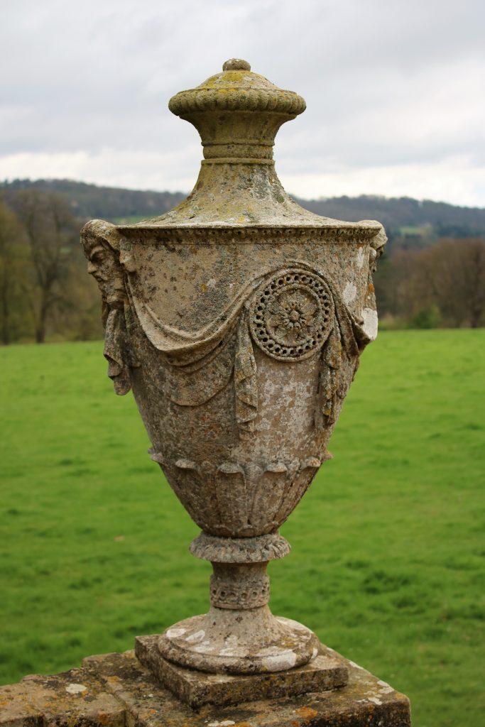 basildon park stone garden vase