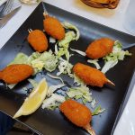 crab claws at the Orient Express in Salou Spain