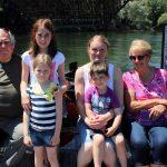 family photo on the Miravet ferry