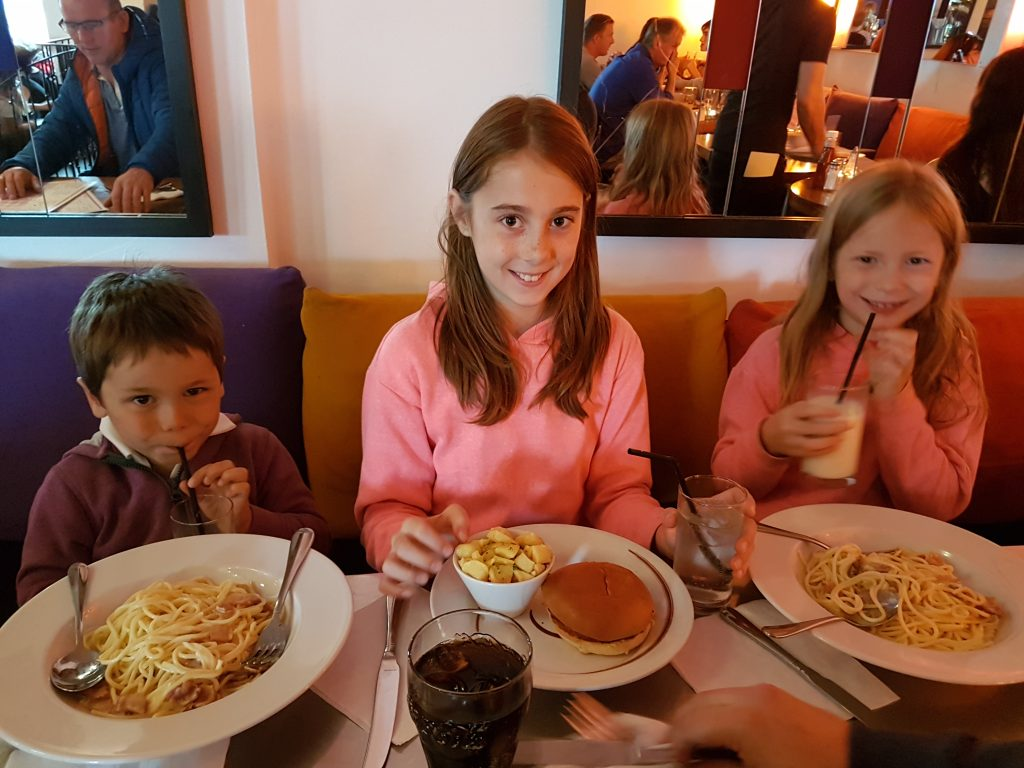 kids meals at amazing restaurant in Portrush, Northern Ireland