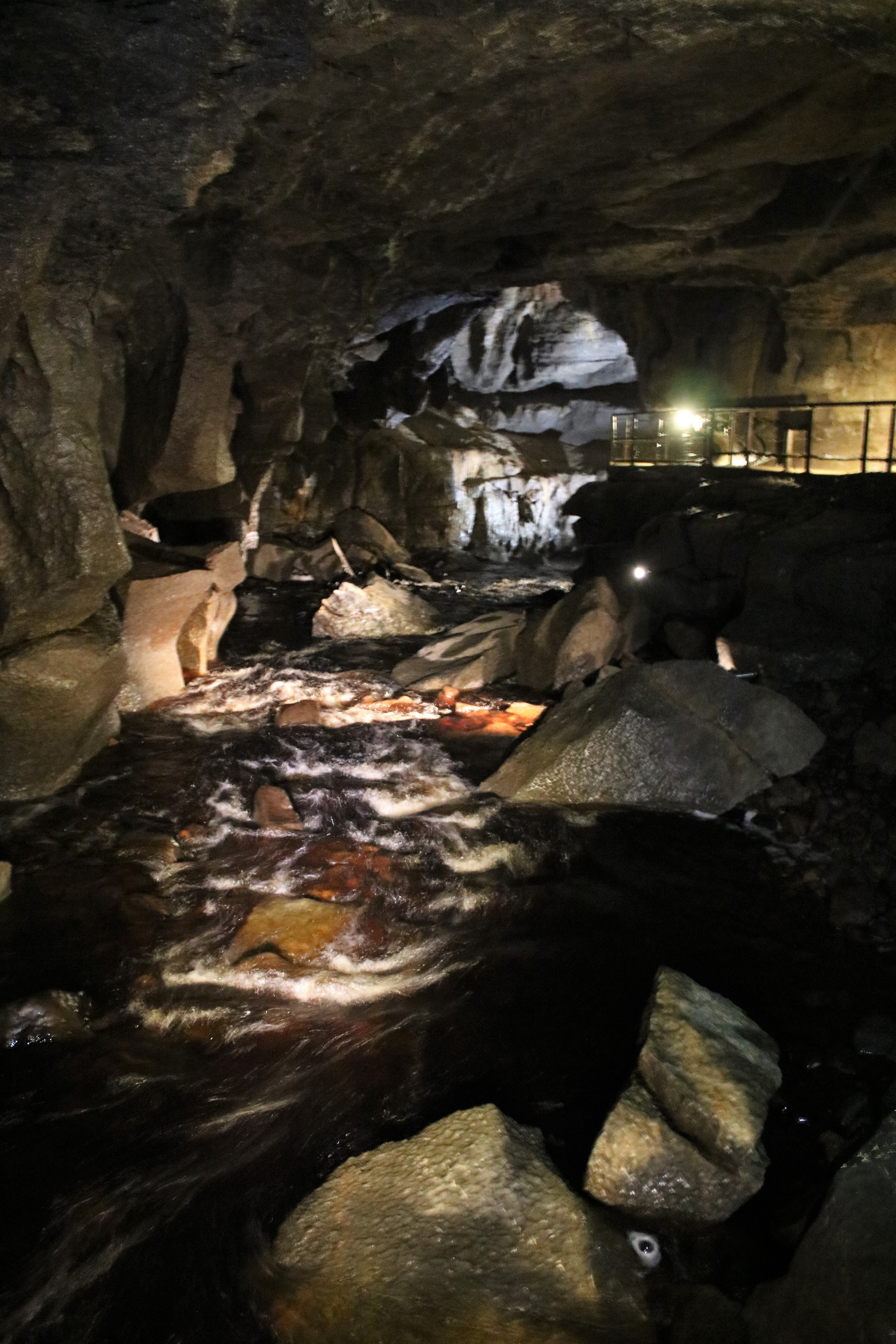 subterranean river in the cave