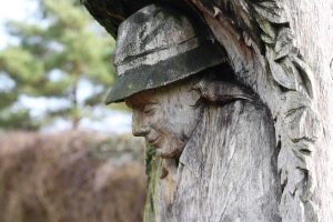 Gardener sculpture at Hughendon Manor gardens