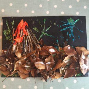 bonfire leaf picture