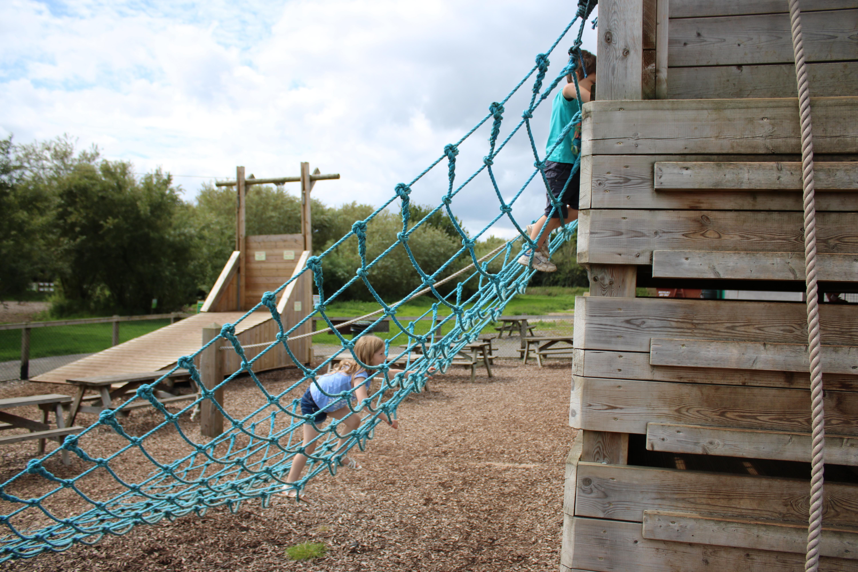 Rope cargo net at Roves Farm park