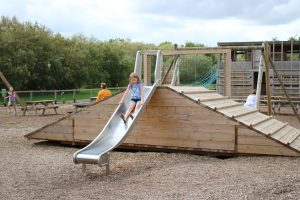 Outdoor slide at Roves Farm park