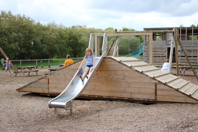 Outdoor slide at Roves Farm park