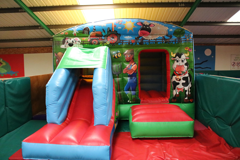 Bouncy castle at Roves Farm