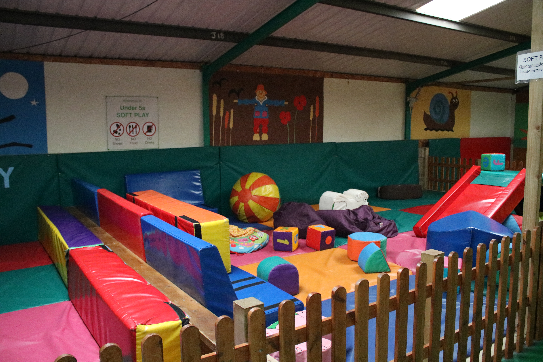 Soft play barn at Roves Farm