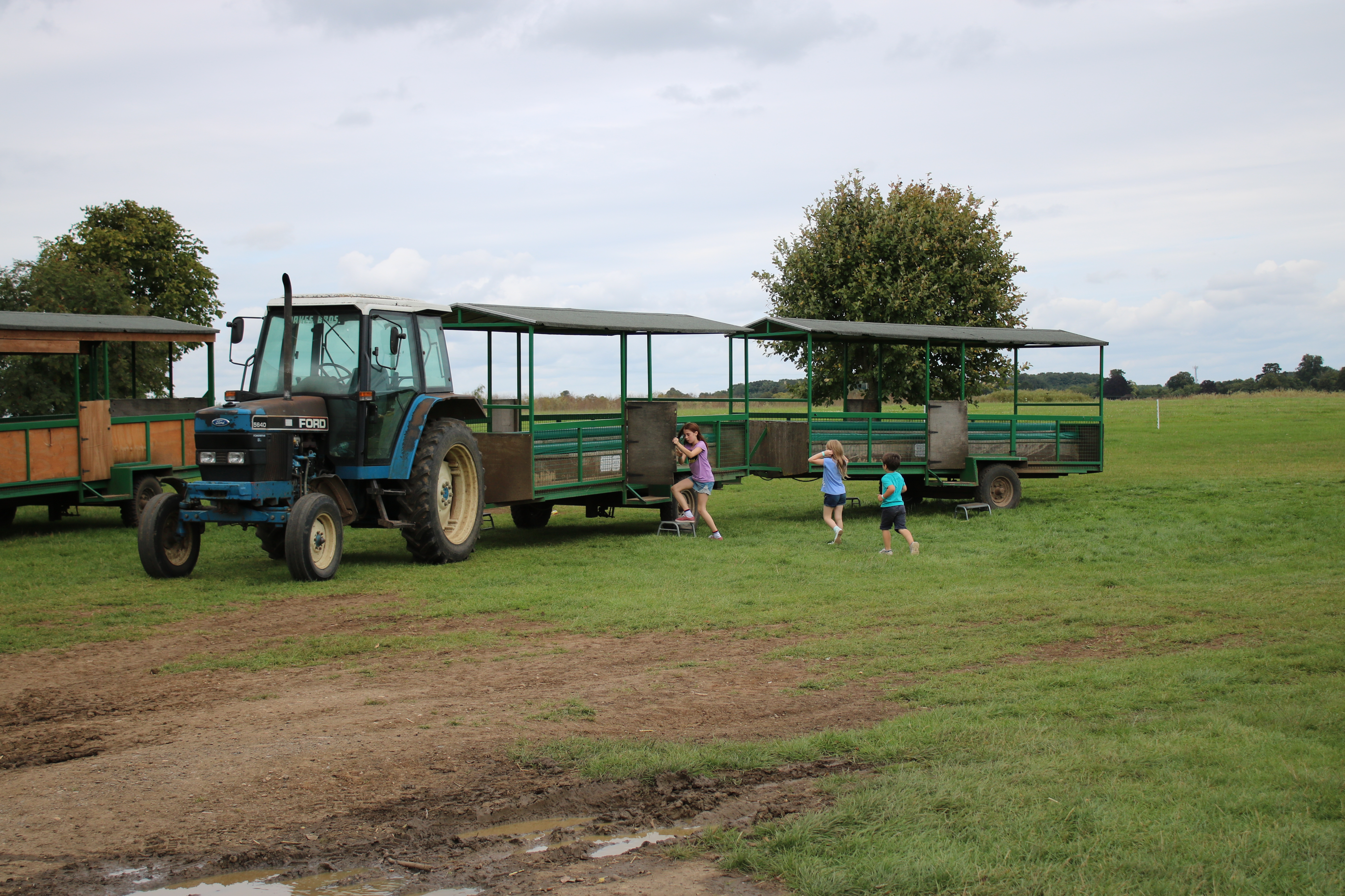 Tractoor trailer ride at Roves Farm