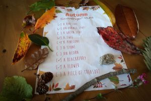 autumn scavenger hunt list