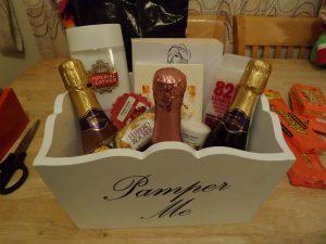 Pamper hamper box for christmas gift