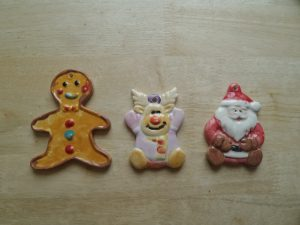 Personal hand painted ornaments by the kids