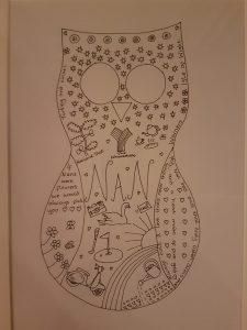 Nan owl personalised sketch
