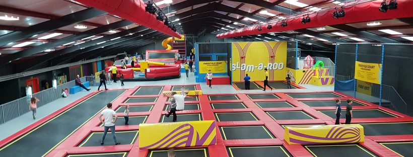 Red kangaroo trampoline park Reading
