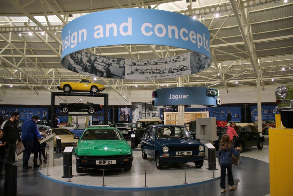 Design and concepts exhibit area at British Motor Museum