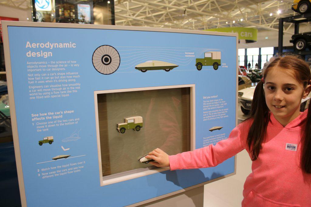 Exploring aerodynamic design exhibit at British Motor Museum