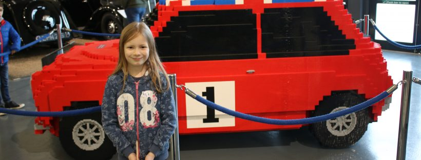 Lego car on display at British Motor Museum