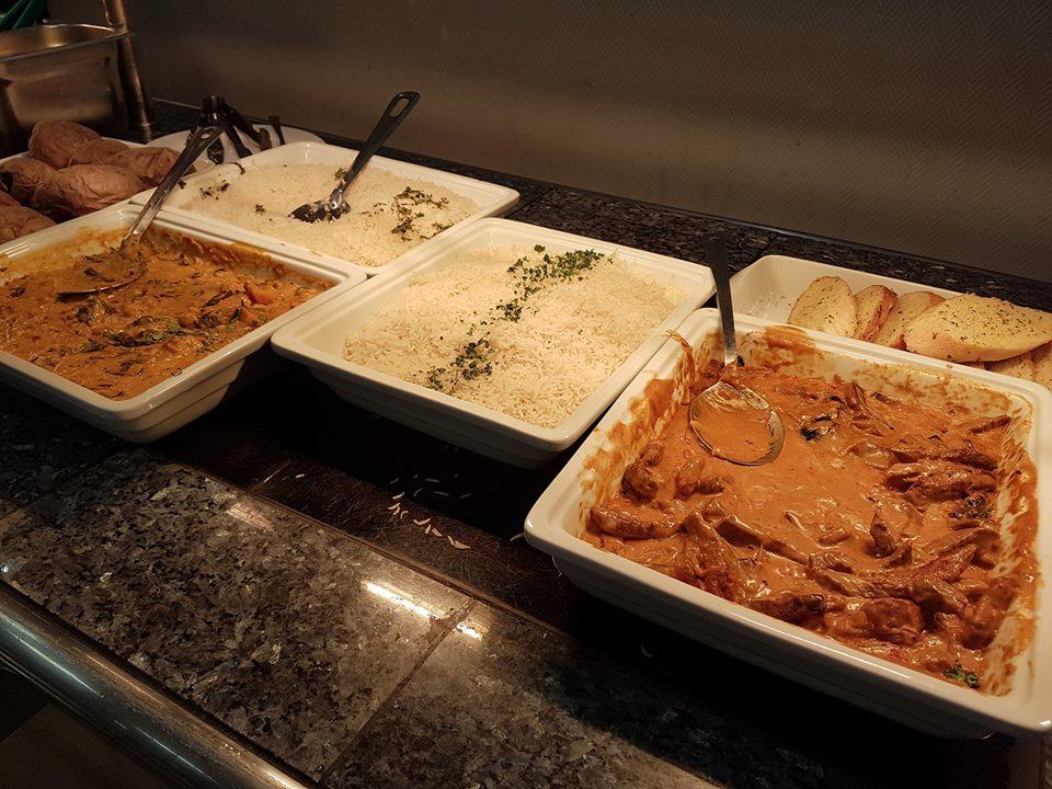 Hot food menu at British Motor Museum restaurant