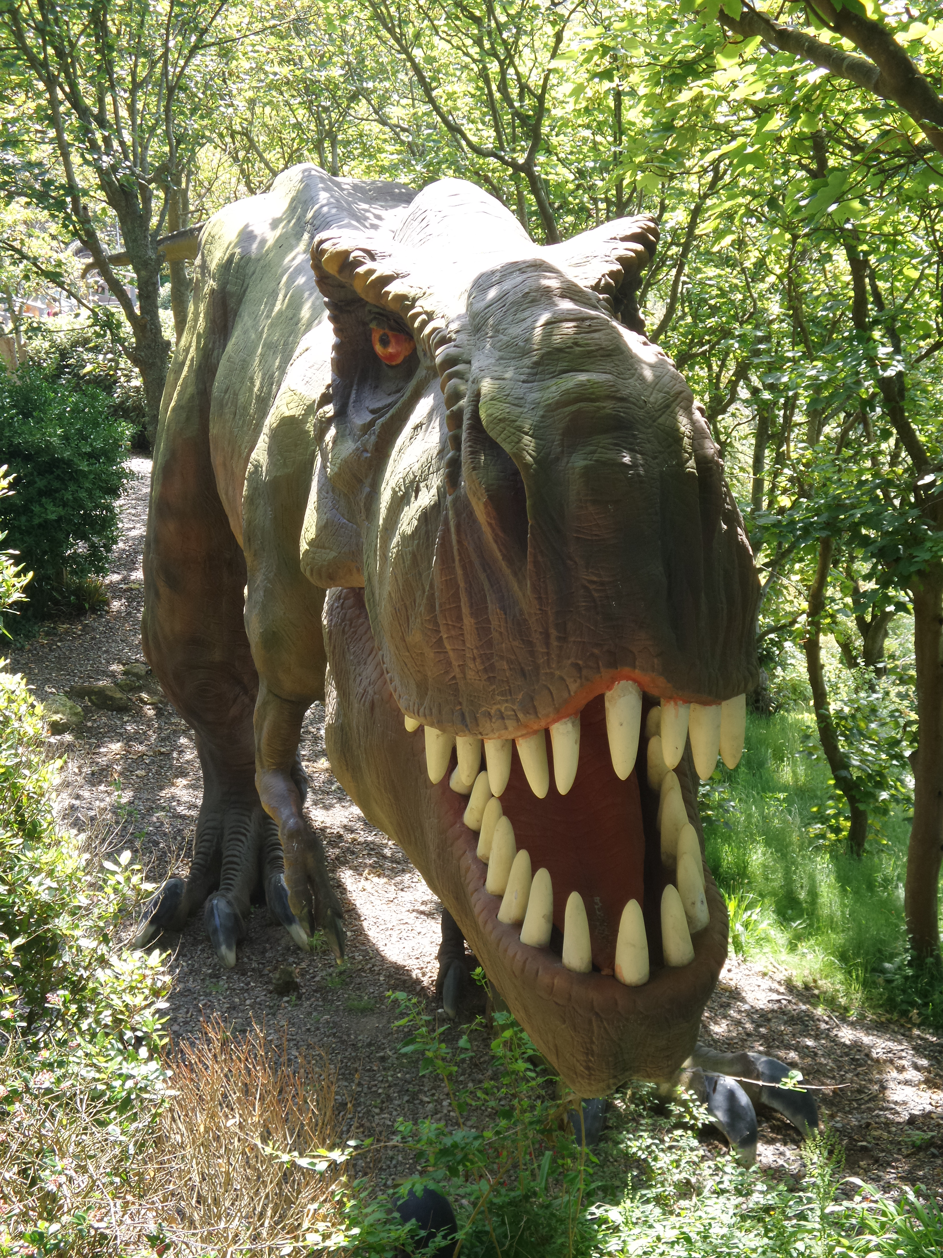 dinosaur at blackgang chine on Isle Of Wight
