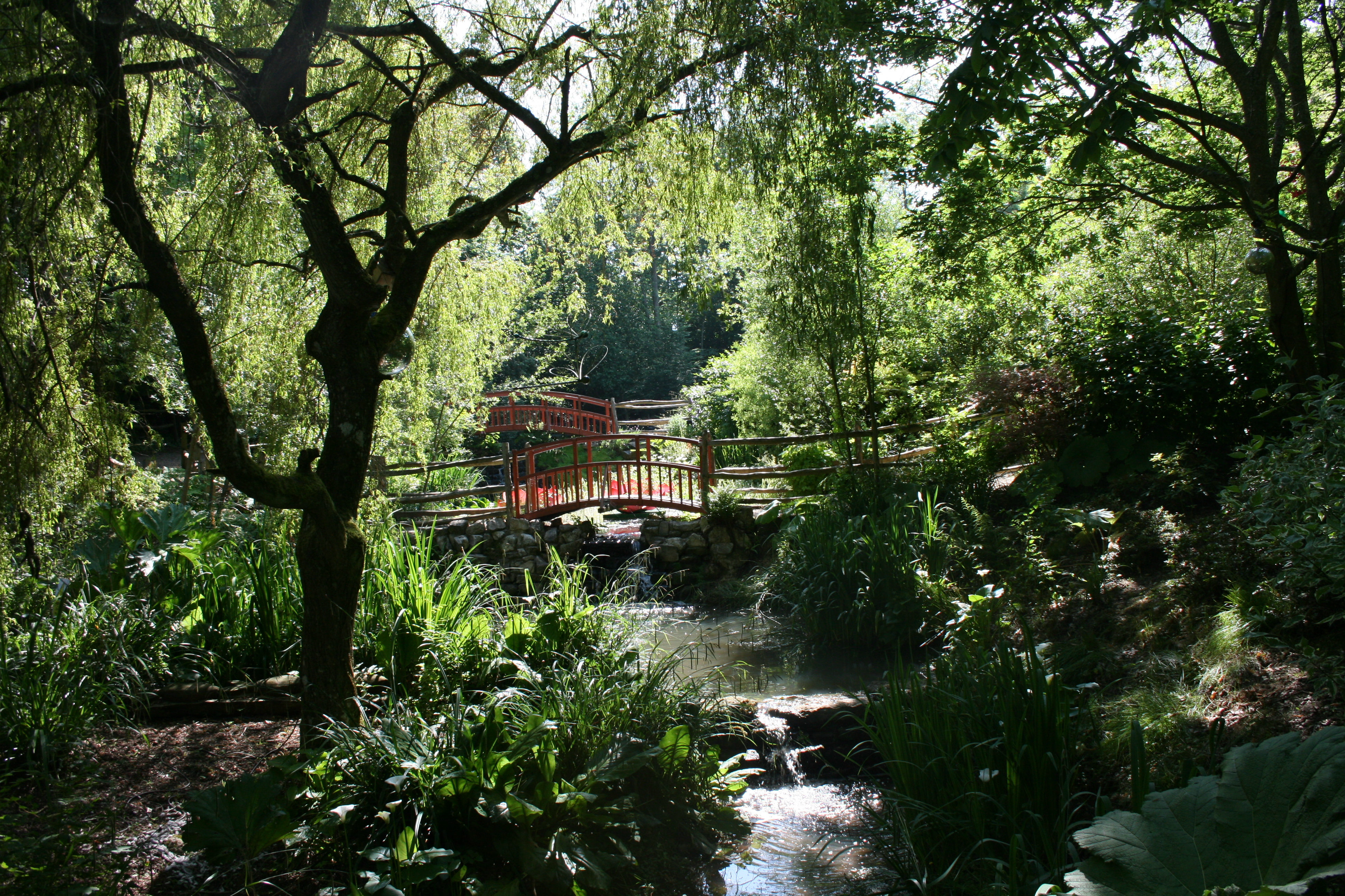 Japanese garden at Robin Hill Country Park on the Isle of Wight